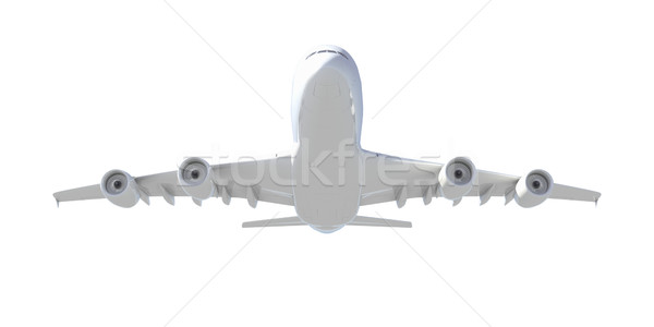 White passenger plane. Bottom view Stock photo © cherezoff