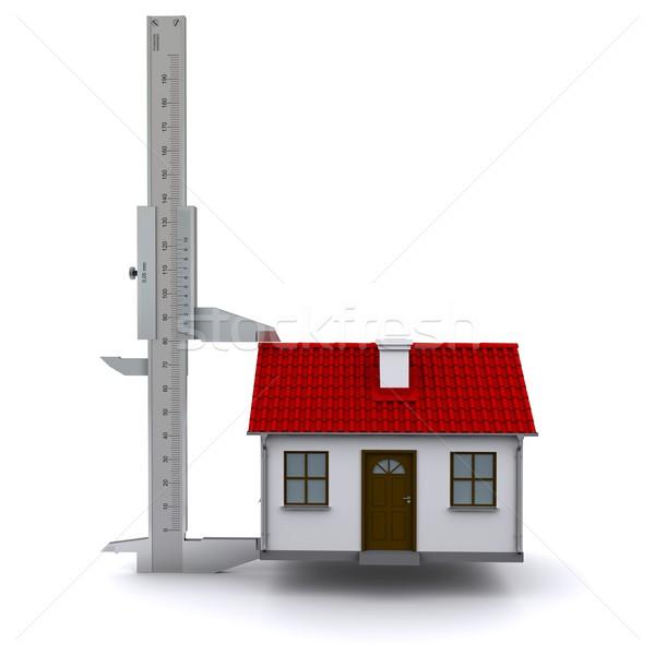 Hoogte huis 3D bouw ontwerp Stockfoto © cherezoff