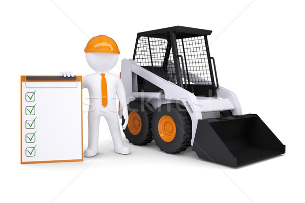 3d white man near the truck Stock photo © cherezoff
