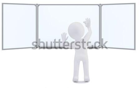 Fehér férfi nyújtott ki kéz kiemelt hüvelykujj Stock fotó © cherezoff