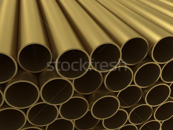 Groupe alliage tubes texture construction design Photo stock © cherezoff