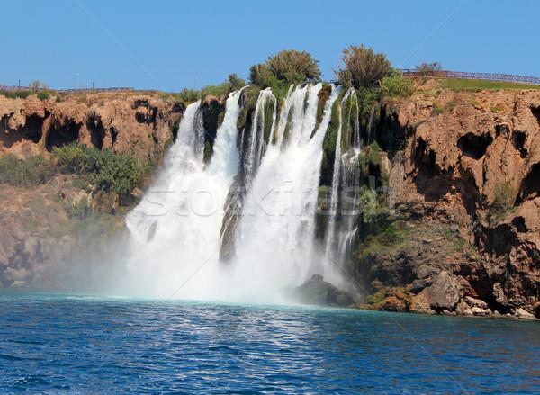 Waterfall and sea Stock photo © cherezoff