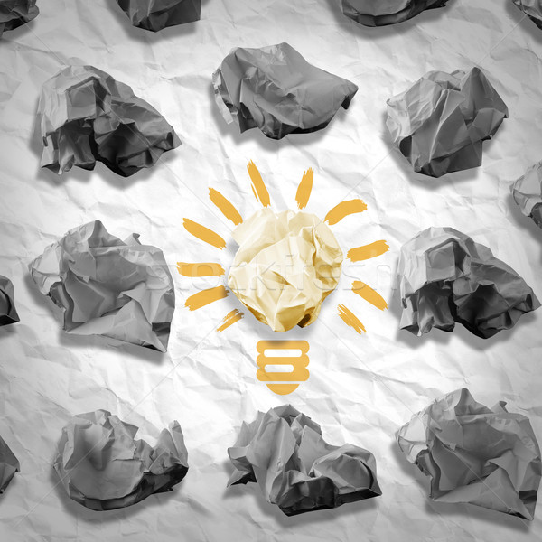 Lamp made of paper and crumpled paper wads Stock photo © cherezoff