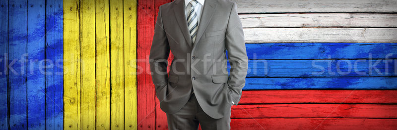 Concept of business between Russia and Romania Stock photo © cherezoff