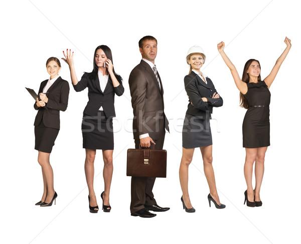 ビジネスの方々  リーダー プロファイル フォアグラウンド グループ ビジネスマン ストックフォト © cherezoff