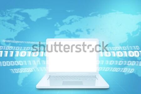 ノートパソコン 画面 雷 抽象的な コンピュータ エレクトロニクス ストックフォト © cherezoff
