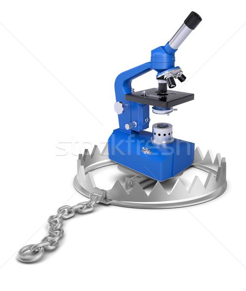 микроскоп несут ловушка изолированный белый Сток-фото © cherezoff