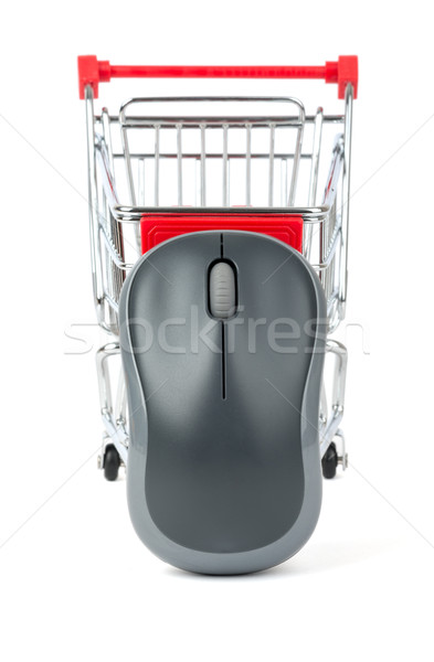 Grey computer mouse in shopping cart Stock photo © cherezoff