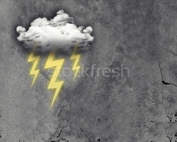 Nube tre fulmini abstract grigio Foto d'archivio © cherezoff