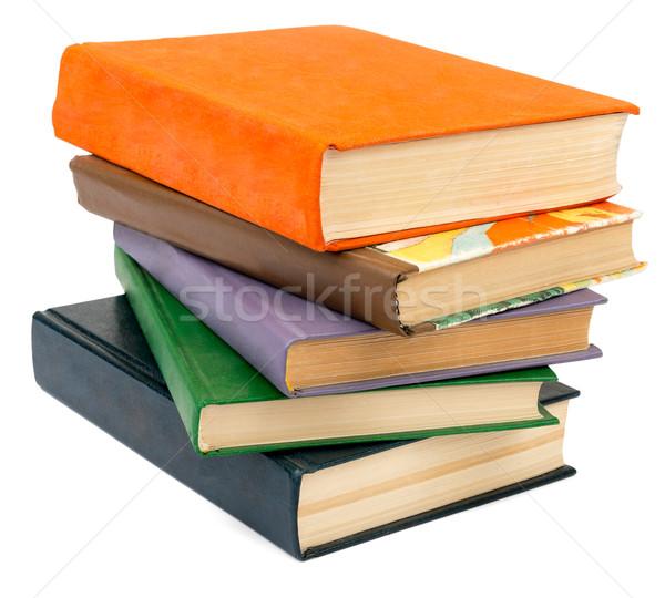 Boeken geïsoleerd witte papier Stockfoto © cherezoff
