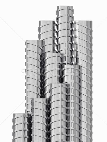 Metaal geïsoleerd witte 3D Stockfoto © cherezoff