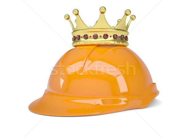 Crown on helmet Stock photo © cherezoff