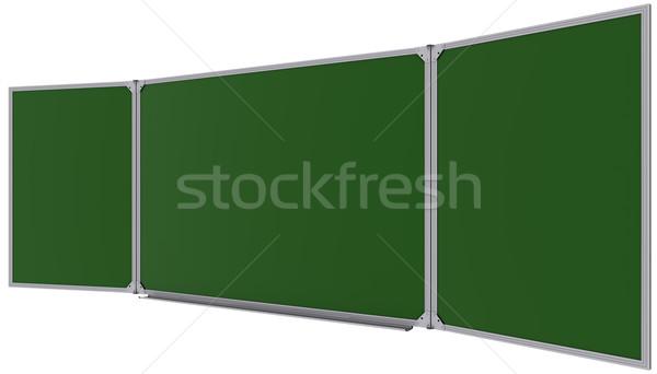 Büyük manyetik yeşil tahta yalıtılmış beyaz Stok fotoğraf © cherezoff