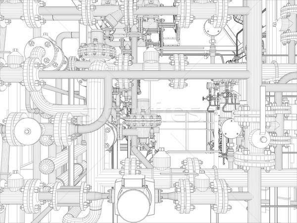 産業 レンダー ベクトル eps10 ストックフォト © cherezoff