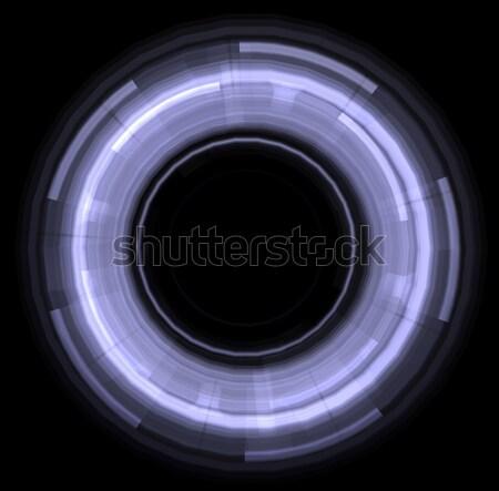 ストックフォト: 抽象的な · サークル · 孤立した · 黒