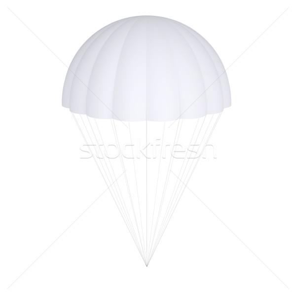 белый парашютом изолированный оказывать небе путешествия Сток-фото © cherezoff