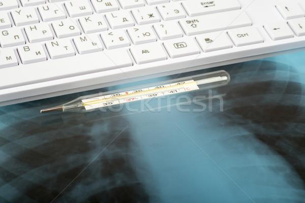 X-ray examination and keyboard Stock photo © cherezoff