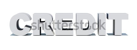 Word credit on white Stock photo © cherezoff