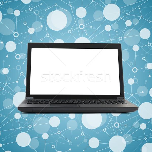Preto laptop tela fundo rede caderno Foto stock © cherezoff
