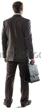 背面図 ビジネスマン ポインティング コピースペース 小さな ビジネスマン ストックフォト © cherezoff