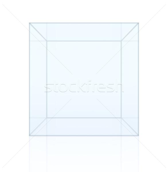 Empty glass showcase Stock photo © cherezoff