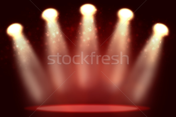 Illustration of empty red room with highlight Stock photo © cherezoff