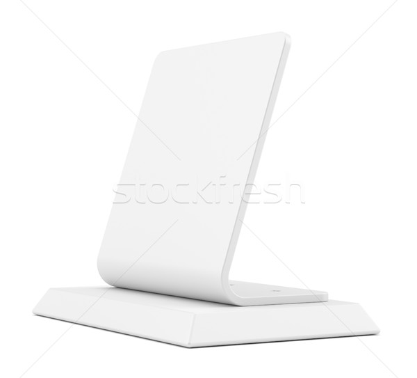 Stock photo: Blank table tent sign, isolated