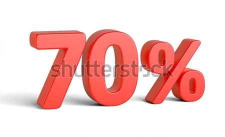 Stock fotó: Piros · százalék · felirat · fehér · üzlet · 3D