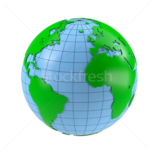 Stilizzato mondo isolato bianco mondo terra Foto d'archivio © cherezoff