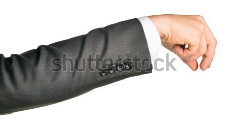 Businessman hand to hold small gadget Stock photo © cherezoff