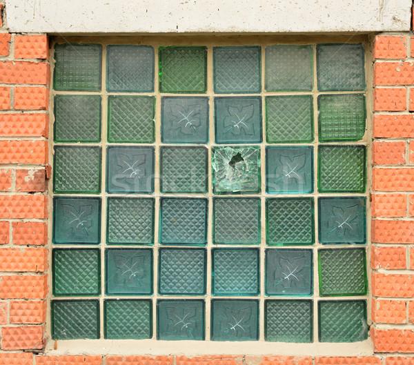 Finestra vetro mattoni elemento web design 3D Foto d'archivio © cherezoff