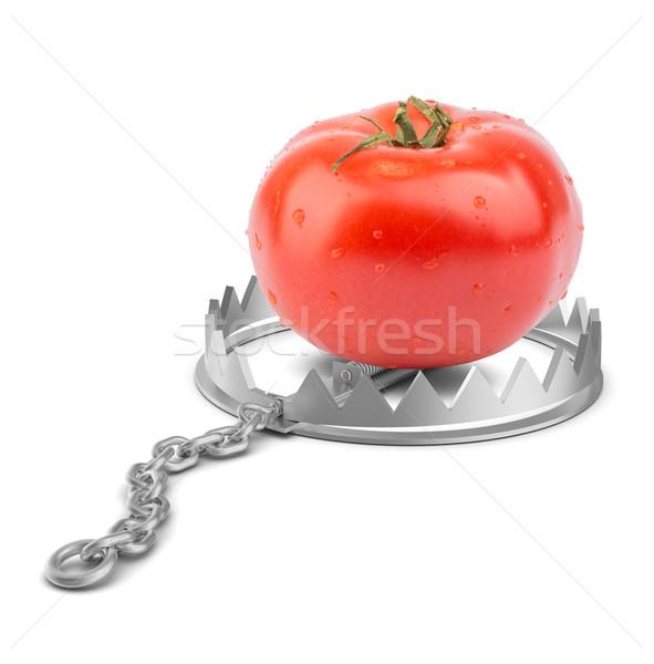 Fresco tomates tenha armadilha isolado branco Foto stock © cherezoff