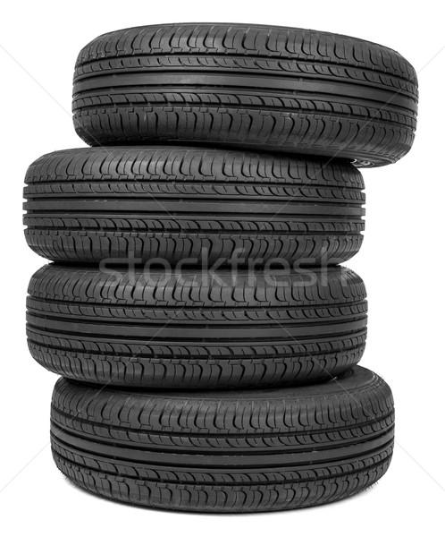 Column of tires Stock photo © cherezoff