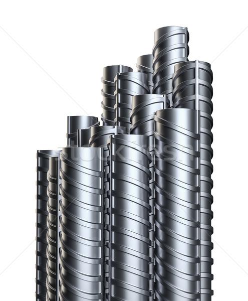 Acél izolált fehér fém építőipar 3d illusztráció Stock fotó © cherezoff