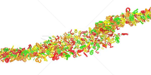 Stream of colorful figures Stock photo © cherezoff