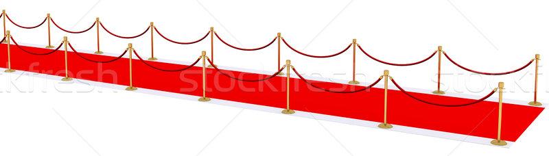 Vörös szőnyeg arany absztrakt mozi színház siker Stock fotó © cherezoff