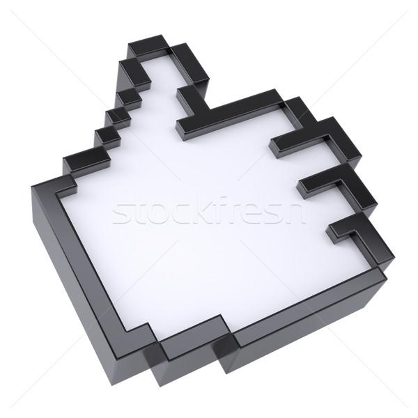 Pixel thumbs up Stock photo © cherezoff