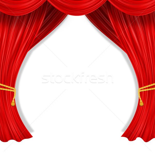 Open curtain Stock photo © cherezoff