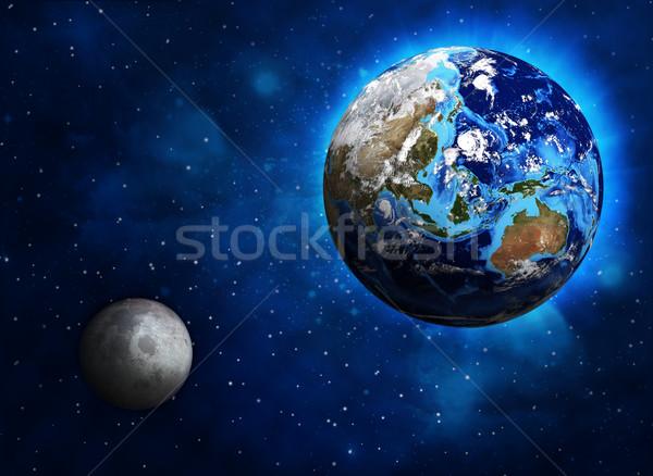 земле планеты луна Элементы изображение небе Сток-фото © cherezoff