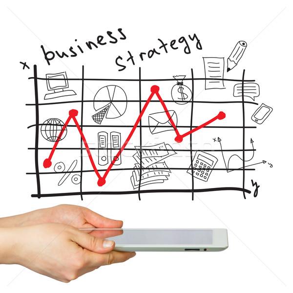 Ręce strategia biznesowa odizolowany biały człowiek Zdjęcia stock © cherezoff