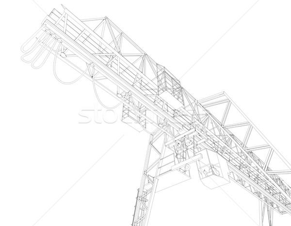 Gantry bridge crane, part Stock photo © cherezoff