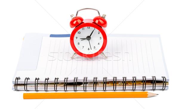 Ouvrir la temps horloge matin début crayon Photo stock © cherezoff