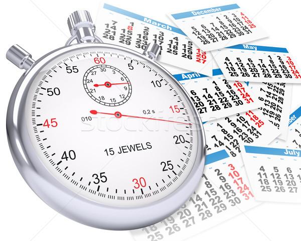 Timer calendario isolato bianco clock arrow Foto d'archivio © cherezoff