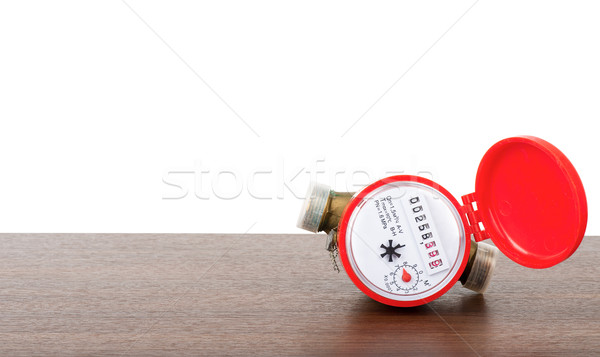 Red water meter Stock photo © cherezoff