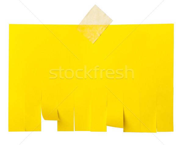 Geel scheur af papier exemplaar ruimte Stockfoto © cherezoff