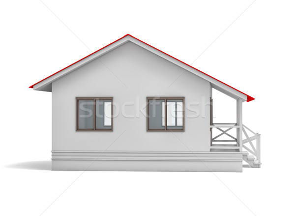 Residential house. Side view Stock photo © cherezoff