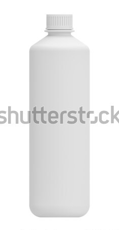 Realistic white plastic bottle. Mock-up packages Stock photo © cherezoff