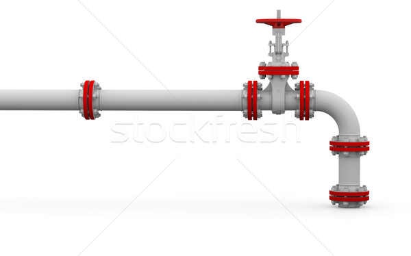 White pipe and valve Stock photo © cherezoff