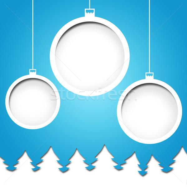 Foto d'archivio: Bianco · Natale · nuovo · anni · blu