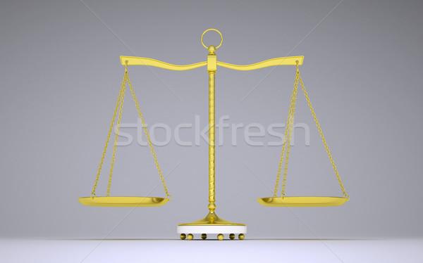 Arany nyaláb egyensúly árnyék elöl kilátás Stock fotó © cherezoff